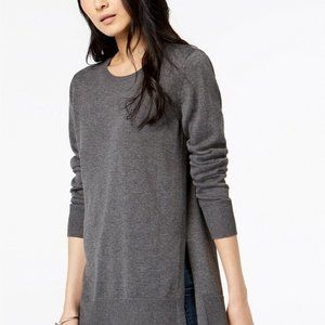 Maison Jules Women's High-Low Hem Sweater Grey
